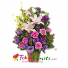 send flowers basket to tokyo in japan
