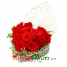 send heart shaped rose basket  to tokyo japan