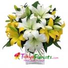 send Lilies to tokyo in japan