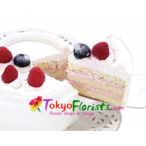 delivery gateau fraise with candles to tokyo