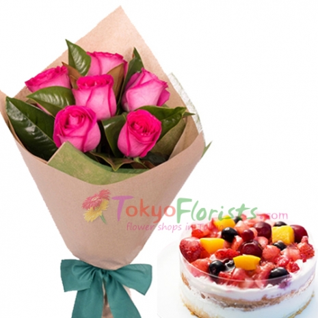 buy flower and cake to tokyo in japan