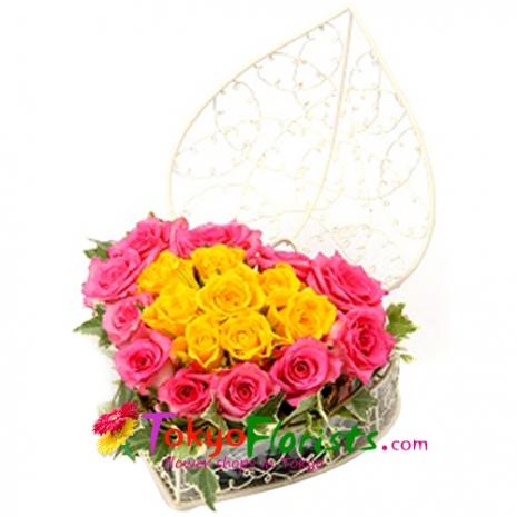 send heart roses arrangement to tokyo