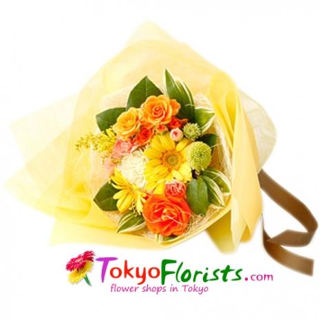 send cruch bouquet fresh orange to tokyo