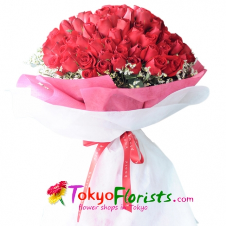 send 100 roses in bouquet to japan