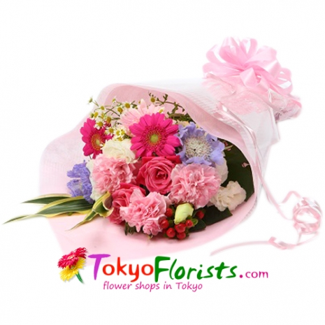 send french pink bouquet arrangement to tokyo